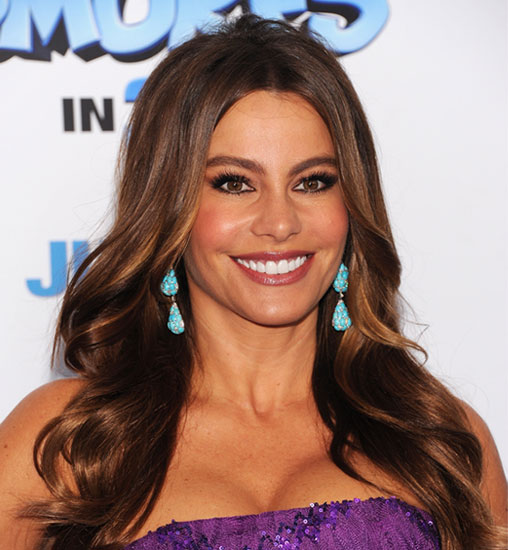 Get Sofia Vergaras Makeup From The Smurfs Premiere 2011